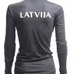 WOMEN'S ACTIVE LONGSLEEVE LATVIA PYEONGCHANG GRAPHITE