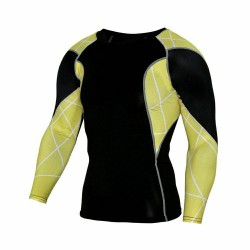 Printed T-shirt Compression Tee sport Long Sleeve