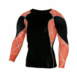 sublimated T-shirt Compression Tee sport Long Sleeve